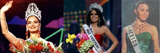 Mexico's Vegas stars:  Lupita Jones (Miss Universe 1991), Ximena Navarrete (Miss Universe 2010), and Vanessa Guzman (4th place finalist, Miss Universe 1996)
