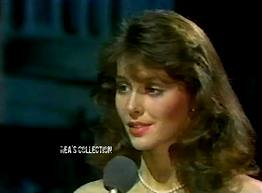 Yes, the future Miss World 2005 was in her womb at this time:  Unnur Steinsson interviewed during the Miss World 1983 finals (screenshot from broadcast)