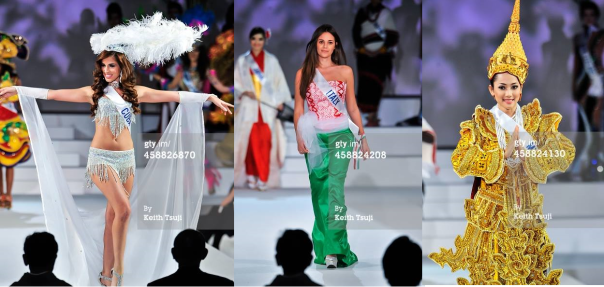 Costumes changed from Press Conference:  Cuba, Italy and Myanmar