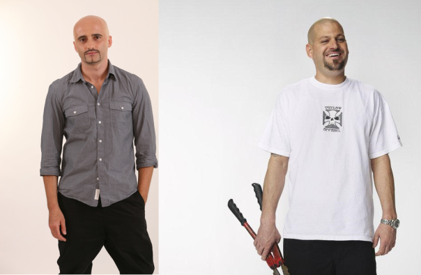 Left:  Voltaj's Calin Goia; Right: Storage Wars' Jarrod Schulz