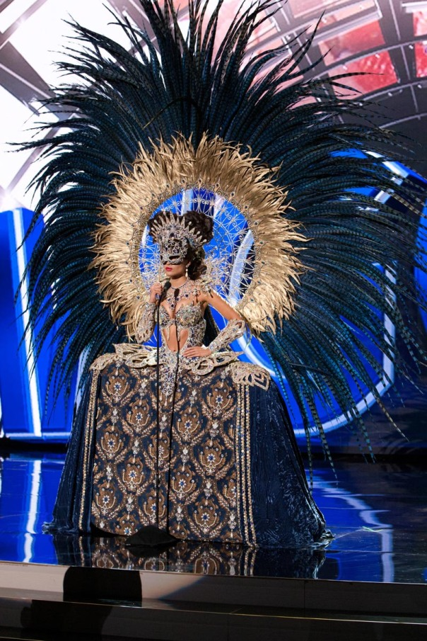Claudia Barrionuevo, Miss Argentina 2015 debuts her National Costume on stage at Planet Hollywood Resort & Casino Wednesday, December 16, 2015. The 2015 Miss Universe contestants are touring, filming, rehearsing and preparing to compete for the DIC Crown in Las Vegas. Tune in to the FOX telecast at 7:00 PM ET live/PT tape-delayed on Sunday, Dec. 20, from Planet Hollywood Resort & Casino in Las Vegas to see who will become Miss Universe 2015. HO/The Miss Universe Organization