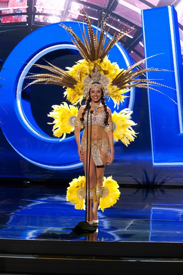 Alysha Boekhoudt, Miss Aruba 2015 debuts her National Costume on stage at Planet Hollywood Resort & Casino Wednesday, December 16, 2015. The 2015 Miss Universe contestants are touring, filming, rehearsing and preparing to compete for the DIC Crown in Las Vegas. Tune in to the FOX telecast at 7:00 PM ET live/PT tape-delayed on Sunday, Dec. 20, from Planet Hollywood Resort & Casino in Las Vegas to see who will become Miss Universe 2015. HO/The Miss Universe Organization