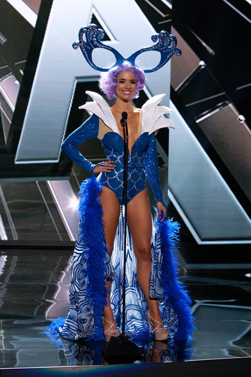 Monika Radulovic, Miss Australia 2015 debuts her National Costume on stage at Planet Hollywood Resort & Casino Wednesday, December 16, 2015. The 2015 Miss Universe contestants are touring, filming, rehearsing and preparing to compete for the DIC Crown in Las Vegas. Tune in to the FOX telecast at 7:00 PM ET live/PT tape-delayed on Sunday, Dec. 20, from Planet Hollywood Resort & Casino in Las Vegas to see who will become Miss Universe 2015. HO/The Miss Universe Organization