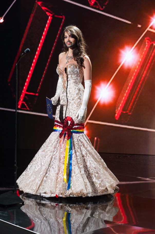 Amina Dagi, Miss Austria 2015 debuts her National Costume on stage at Planet Hollywood Resort & Casino Wednesday, December 16, 2015. The 2015 Miss Universe contestants are touring, filming, rehearsing and preparing to compete for the DIC Crown in Las Vegas. Tune in to the FOX telecast at 7:00 PM ET live/PT tape-delayed on Sunday, Dec. 20, from Planet Hollywood Resort & Casino in Las Vegas to see who will become Miss Universe 2015. HO/The Miss Universe Organization