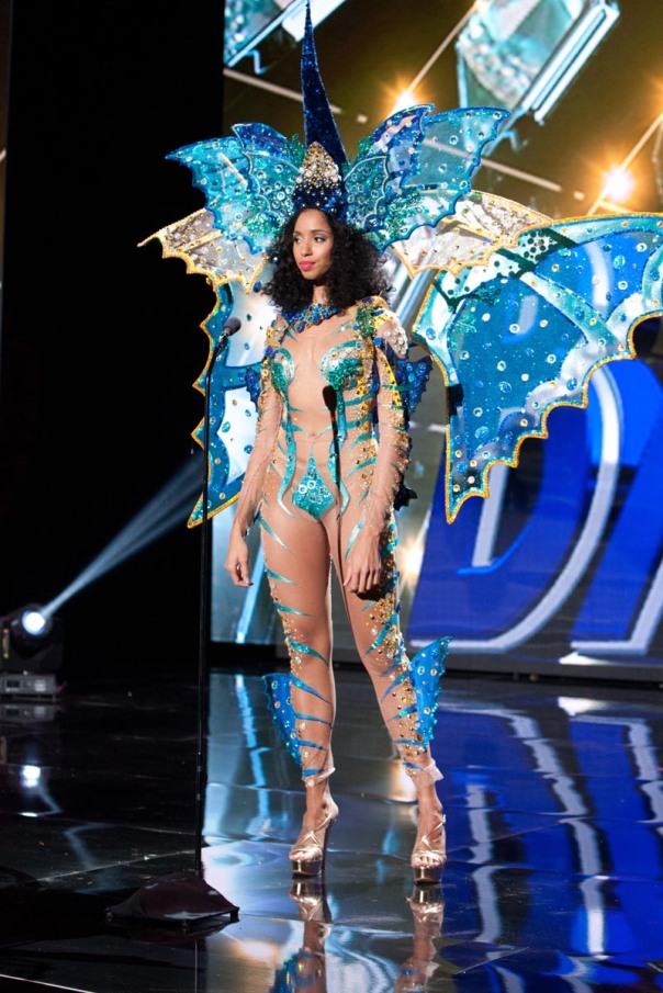 Toria Nichole, Miss Bahamas 2015 debuts her National Costume on stage at Planet Hollywood Resort & Casino Wednesday, December 16, 2015. The 2015 Miss Universe contestants are touring, filming, rehearsing and preparing to compete for the DIC Crown in Las Vegas. Tune in to the FOX telecast at 7:00 PM ET live/PT tape-delayed on Sunday, Dec. 20, from Planet Hollywood Resort & Casino in Las Vegas to see who will become Miss Universe 2015. HO/The Miss Universe Organization