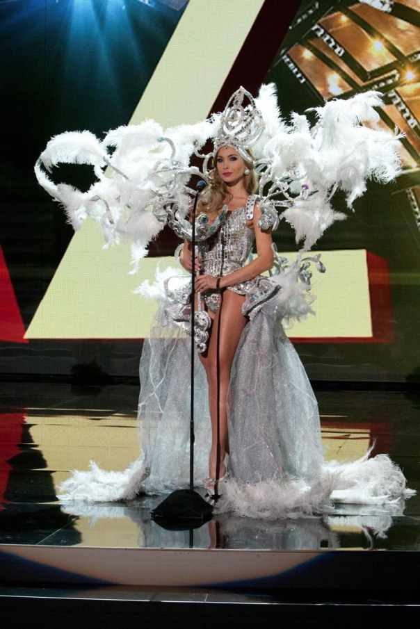 Romina Rocamonje, Miss Bolivia 2015 debuts her National Costume on stage at Planet Hollywood Resort & Casino Wednesday, December 16, 2015. The 2015 Miss Universe contestants are touring, filming, rehearsing and preparing to compete for the DIC Crown in Las Vegas. Tune in to the FOX telecast at 7:00 PM ET live/PT tape-delayed on Sunday, Dec. 20, from Planet Hollywood Resort & Casino in Las Vegas to see who will become Miss Universe 2015. HO/The Miss Universe Organization