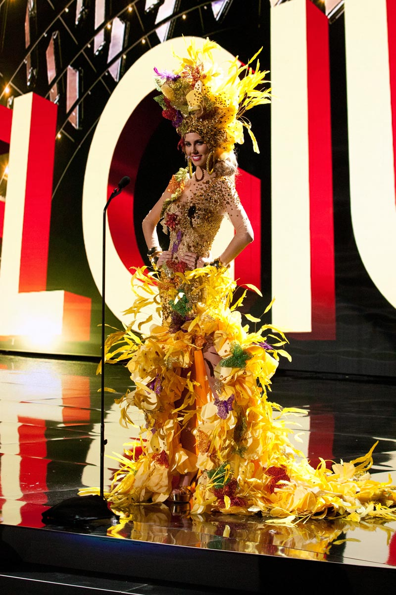 Marthina Brandt, Miss Brazil 2015 debuts her National Costume on stage at Planet Hollywood Resort & Casino Wednesday, December 16, 2015. The 2015 Miss Universe contestants are touring, filming, rehearsing and preparing to compete for the DIC Crown in Las Vegas. Tune in to the FOX telecast at 7:00 PM ET live/PT tape-delayed on Sunday, Dec. 20, from Planet Hollywood Resort & Casino in Las Vegas to see who will become Miss Universe 2015. HO/The Miss Universe Organization