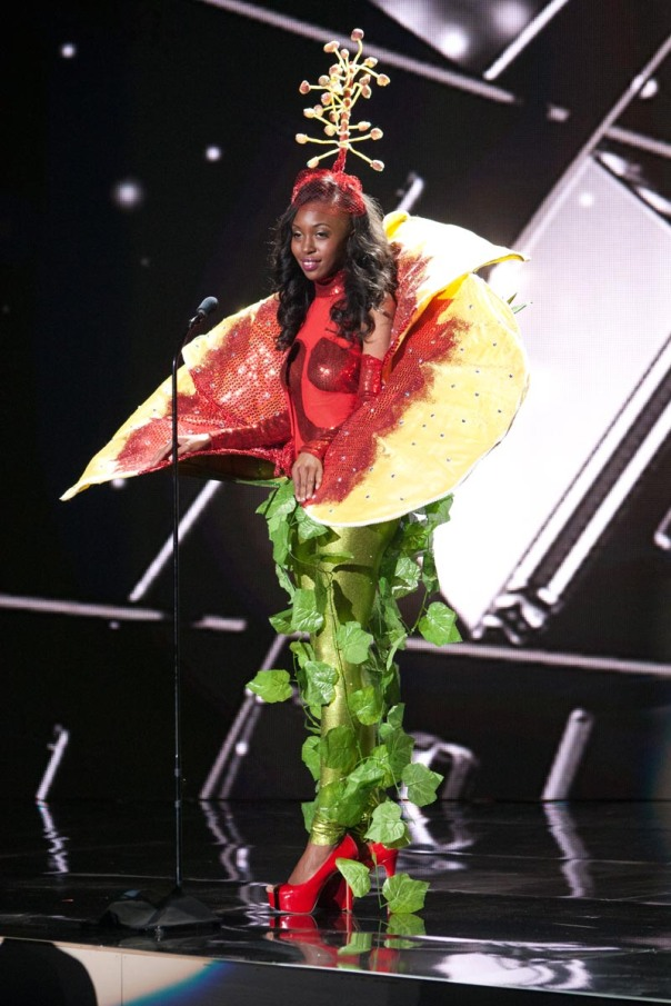 Adorya Rocio Baly, Miss British Virgin Islands 2015 debuts her National Costume on stage at Planet Hollywood Resort & Casino Wednesday, December 16, 2015. The 2015 Miss Universe contestants are touring, filming, rehearsing and preparing to compete for the DIC Crown in Las Vegas. Tune in to the FOX telecast at 7:00 PM ET live/PT tape-delayed on Sunday, Dec. 20, from Planet Hollywood Resort & Casino in Las Vegas to see who will become Miss Universe 2015. HO/The Miss Universe Organization