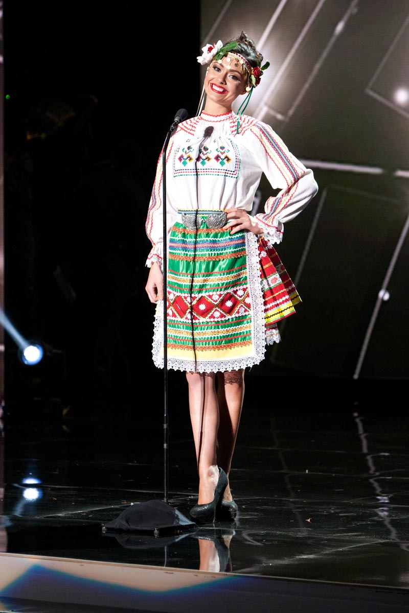 Radostina Todorova, Miss Bulgaria 2015 debuts her National Costume on stage at Planet Hollywood Resort & Casino Wednesday, December 16, 2015. The 2015 Miss Universe contestants are touring, filming, rehearsing and preparing to compete for the DIC Crown in Las Vegas. Tune in to the FOX telecast at 7:00 PM ET live/PT tape-delayed on Sunday, Dec. 20, from Planet Hollywood Resort & Casino in Las Vegas to see who will become Miss Universe 2015. HO/The Miss Universe Organization