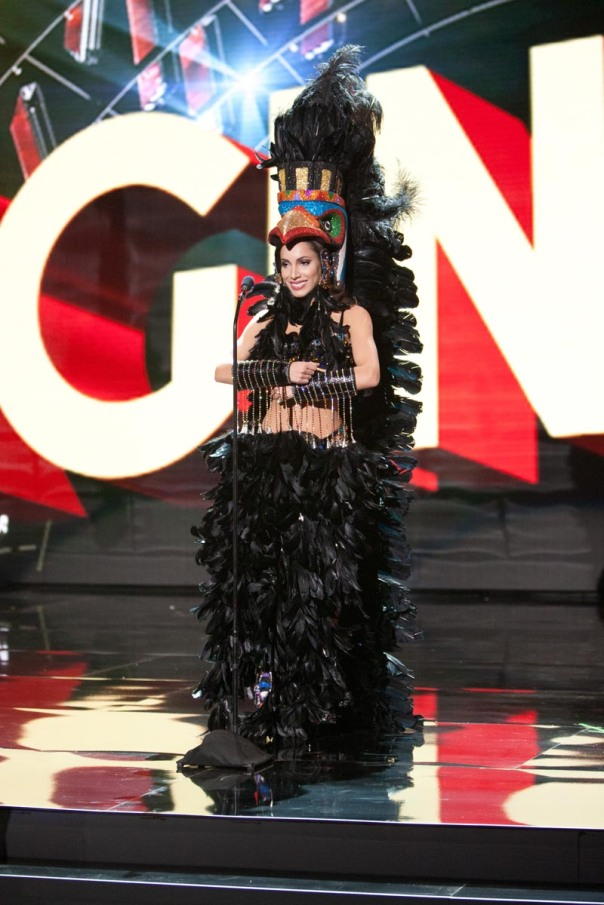 Paola Nunez, Miss Canada 2015 debuts her National Costume on stage at Planet Hollywood Resort & Casino Wednesday, December 16, 2015. The 2015 Miss Universe contestants are touring, filming, rehearsing and preparing to compete for the DIC Crown in Las Vegas. Tune in to the FOX telecast at 7:00 PM ET live/PT tape-delayed on Sunday, Dec. 20, from Planet Hollywood Resort & Casino in Las Vegas to see who will become Miss Universe 2015. HO/The Miss Universe Organization