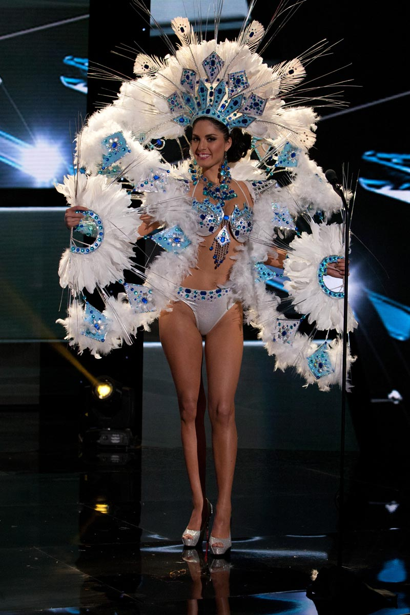Maria-Belen Jerez Spuler, Miss Chile 2015 debuts her National Costume on stage at Planet Hollywood Resort & Casino Wednesday, December 16, 2015. The 2015 Miss Universe contestants are touring, filming, rehearsing and preparing to compete for the DIC Crown in Las Vegas. Tune in to the FOX telecast at 7:00 PM ET live/PT tape-delayed on Sunday, Dec. 20, from Planet Hollywood Resort & Casino in Las Vegas to see who will become Miss Universe 2015. HO/The Miss Universe Organization