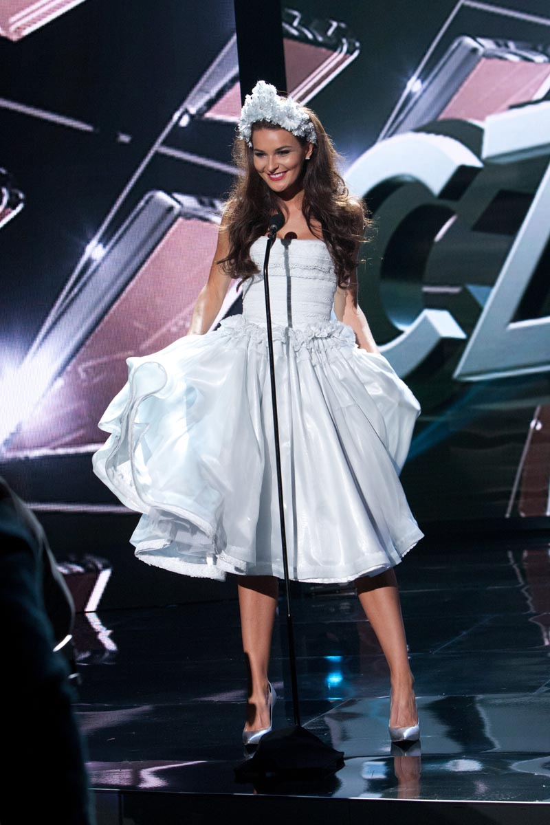 Cecilie Feline Wellemberg, Miss Denmark 2015 debuts her National Costume on stage at Planet Hollywood Resort & Casino Wednesday, December 16, 2015. The 2015 Miss Universe contestants are touring, filming, rehearsing and preparing to compete for the DIC Crown in Las Vegas. Tune in to the FOX telecast at 7:00 PM ET live/PT tape-delayed on Sunday, Dec. 20, from Planet Hollywood Resort & Casino in Las Vegas to see who will become Miss Universe 2015. HO/The Miss Universe Organization