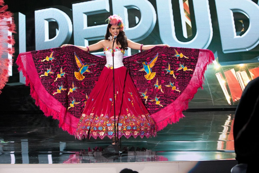 Francesca Cipriani, Miss Ecuador 2015 debuts her National Costume on stage at Planet Hollywood Resort & Casino Wednesday, December 16, 2015. The 2015 Miss Universe contestants are touring, filming, rehearsing and preparing to compete for the DIC Crown in Las Vegas. Tune in to the FOX telecast at 7:00 PM ET live/PT tape-delayed on Sunday, Dec. 20, from Planet Hollywood Resort & Casino in Las Vegas to see who will become Miss Universe 2015. HO/The Miss Universe Organization
