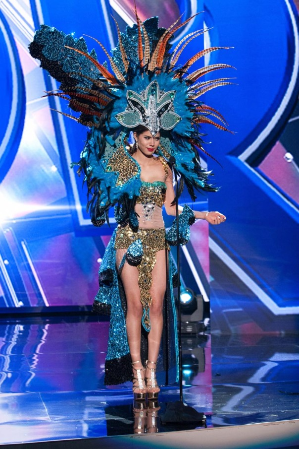 Idubina Rivas, Miss El Salvador 2015 debuts her National Costume on stage at Planet Hollywood Resort & Casino Wednesday, December 16, 2015. The 2015 Miss Universe contestants are touring, filming, rehearsing and preparing to compete for the DIC Crown in Las Vegas. Tune in to the FOX telecast at 7:00 PM ET live/PT tape-delayed on Sunday, Dec. 20, from Planet Hollywood Resort & Casino in Las Vegas to see who will become Miss Universe 2015. HO/The Miss Universe Organization