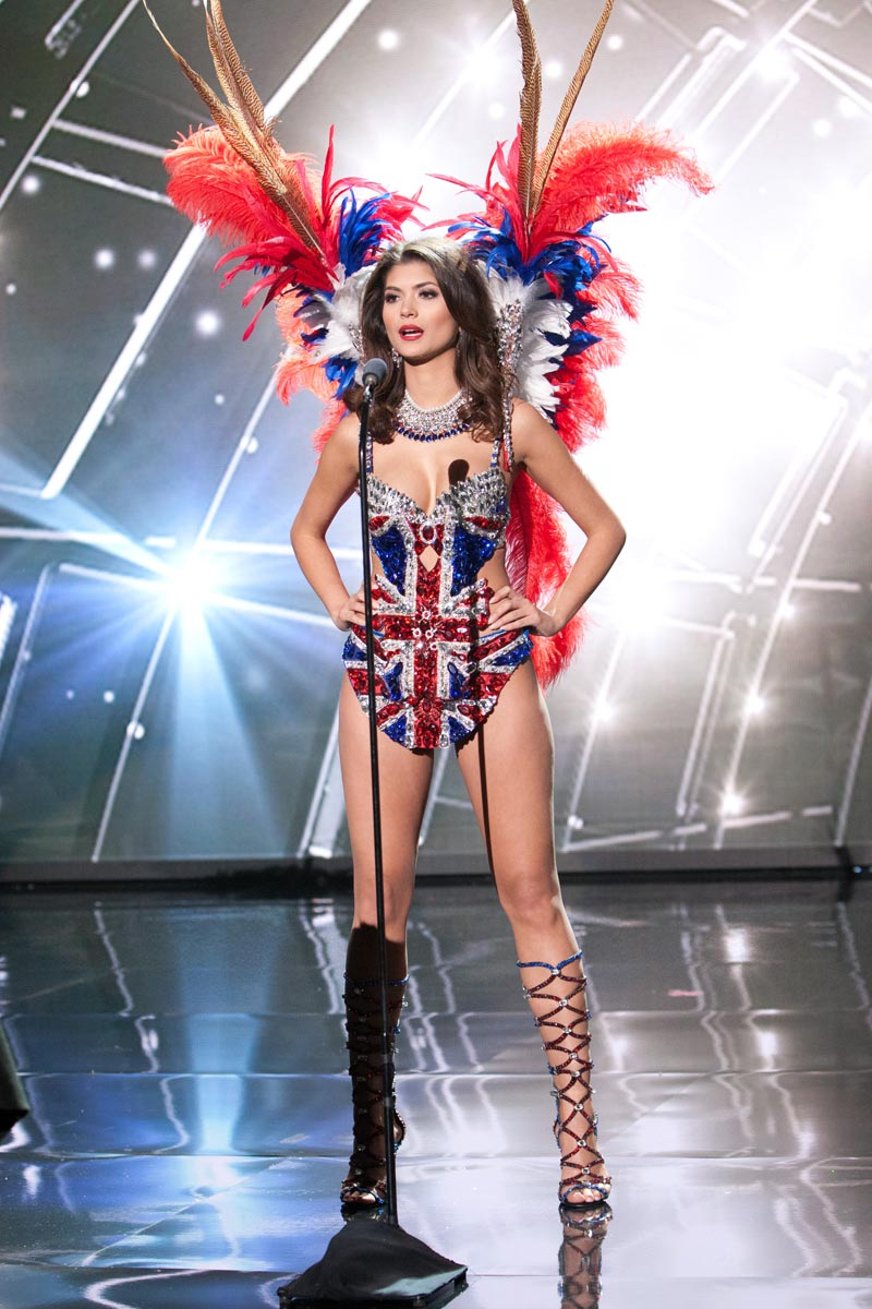 Nena France, Miss Great Britain 2015 debuts her National Costume on stage at Planet Hollywood Resort & Casino Wednesday, December 16, 2015. The 2015 Miss Universe contestants are touring, filming, rehearsing and preparing to compete for the DIC Crown in Las Vegas. Tune in to the FOX telecast at 7:00 PM ET live/PT tape-delayed on Sunday, Dec. 20, from Planet Hollywood Resort & Casino in Las Vegas to see who will become Miss Universe 2015. HO/The Miss Universe Organization