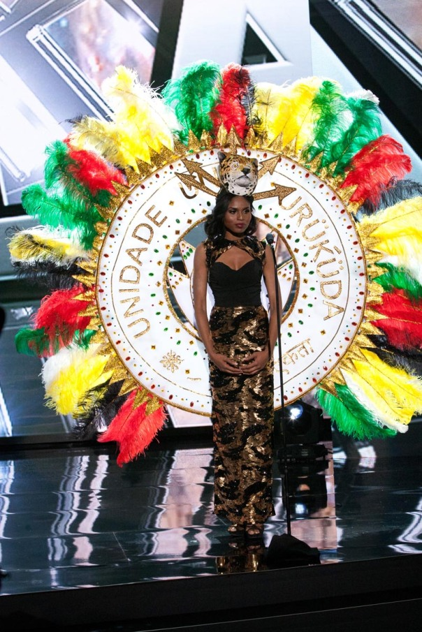 Shauna Ramdyhan, Miss Guyana 2015 debuts her National Costume on stage at Planet Hollywood Resort & Casino Wednesday, December 16, 2015. The 2015 Miss Universe contestants are touring, filming, rehearsing and preparing to compete for the DIC Crown in Las Vegas. Tune in to the FOX telecast at 7:00 PM ET live/PT tape-delayed on Sunday, Dec. 20, from Planet Hollywood Resort & Casino in Las Vegas to see who will become Miss Universe 2015. HO/The Miss Universe Organization