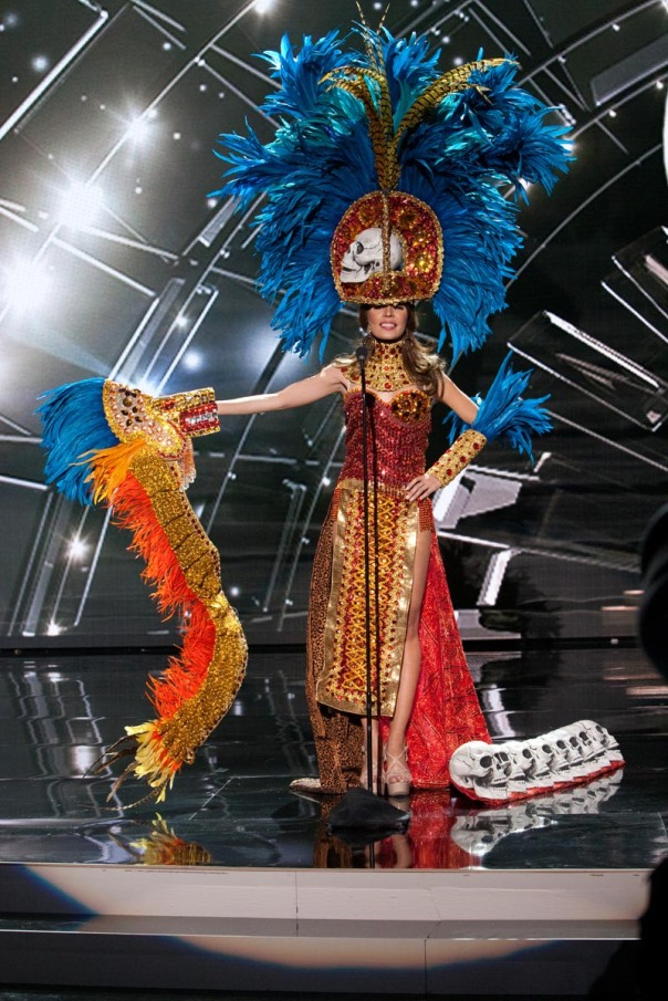 Iroshka Elvir, Miss Honduras 2015 debuts her National Costume on stage at Planet Hollywood Resort & Casino Wednesday, December 16, 2015. The 2015 Miss Universe contestants are touring, filming, rehearsing and preparing to compete for the DIC Crown in Las Vegas. Tune in to the FOX telecast at 7:00 PM ET live/PT tape-delayed on Sunday, Dec. 20, from Planet Hollywood Resort & Casino in Las Vegas to see who will become Miss Universe 2015. HO/The Miss Universe Organization