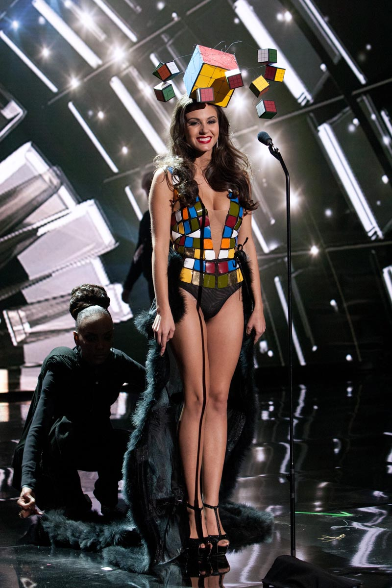 Nikoletta Nagy, Miss Hungary 2015 debuts her National Costume on stage at Planet Hollywood Resort & Casino Wednesday, December 16, 2015. The 2015 Miss Universe contestants are touring, filming, rehearsing and preparing to compete for the DIC Crown in Las Vegas. Tune in to the FOX telecast at 7:00 PM ET live/PT tape-delayed on Sunday, Dec. 20, from Planet Hollywood Resort & Casino in Las Vegas to see who will become Miss Universe 2015. HO/The Miss Universe Organization