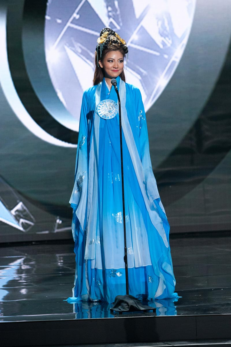 Seoyeon Kim, Miss Korea 2015 debuts her National Costume on stage at Planet Hollywood Resort & Casino Wednesday, December 16, 2015. The 2015 Miss Universe contestants are touring, filming, rehearsing and preparing to compete for the DIC Crown in Las Vegas. Tune in to the FOX telecast at 7:00 PM ET live/PT tape-delayed on Sunday, Dec. 20, from Planet Hollywood Resort & Casino in Las Vegas to see who will become Miss Universe 2015. HO/The Miss Universe Organization
