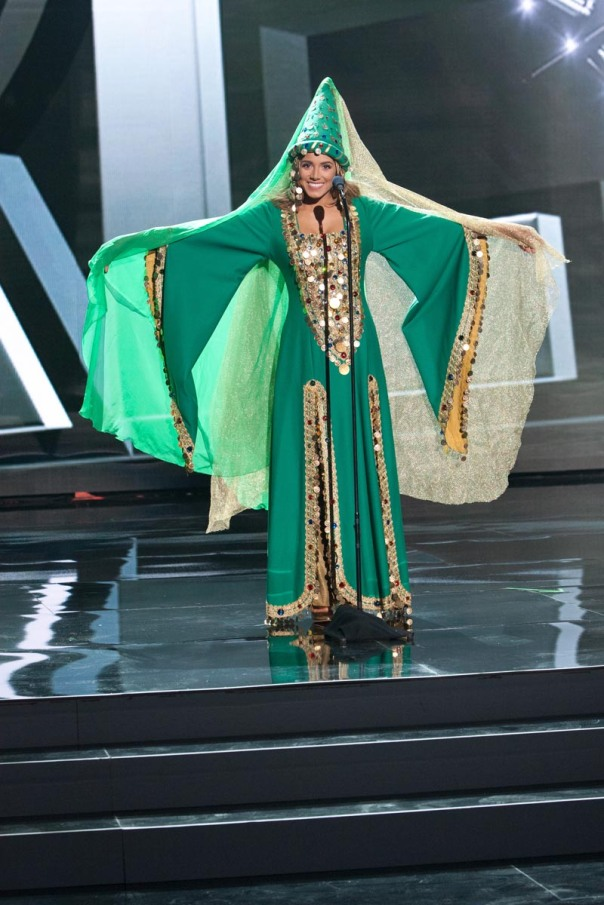 Cynthia Samuel, Miss Lebanon 2015 debuts her National Costume on stage at Planet Hollywood Resort & Casino Wednesday, December 16, 2015. The 2015 Miss Universe contestants are touring, filming, rehearsing and preparing to compete for the DIC Crown in Las Vegas. Tune in to the FOX telecast at 7:00 PM ET live/PT tape-delayed on Sunday, Dec. 20, from Planet Hollywood Resort & Casino in Las Vegas to see who will become Miss Universe 2015. HO/The Miss Universe Organization