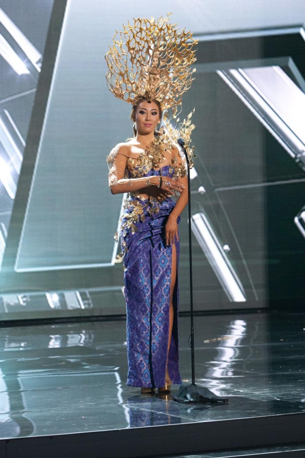 Vanessa Tevi Kumares, Miss Malaysia 2015 debuts her National Costume on stage at Planet Hollywood Resort & Casino Wednesday, December 16, 2015. The 2015 Miss Universe contestants are touring, filming, rehearsing and preparing to compete for the DIC Crown in Las Vegas. Tune in to the FOX telecast at 7:00 PM ET live/PT tape-delayed on Sunday, Dec. 20, from Planet Hollywood Resort & Casino in Las Vegas to see who will become Miss Universe 2015. HO/The Miss Universe Organization