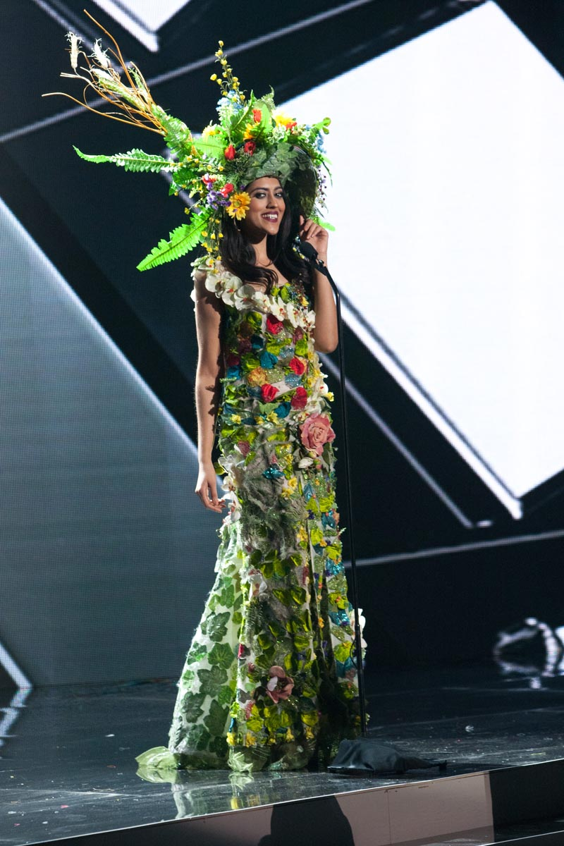 Sheetal Khadun, Miss Mauritius 2015 debuts her National Costume on stage at Planet Hollywood Resort & Casino Wednesday, December 16, 2015. The 2015 Miss Universe contestants are touring, filming, rehearsing and preparing to compete for the DIC Crown in Las Vegas. Tune in to the FOX telecast at 7:00 PM ET live/PT tape-delayed on Sunday, Dec. 20, from Planet Hollywood Resort & Casino in Las Vegas to see who will become Miss Universe 2015. HO/The Miss Universe Organization