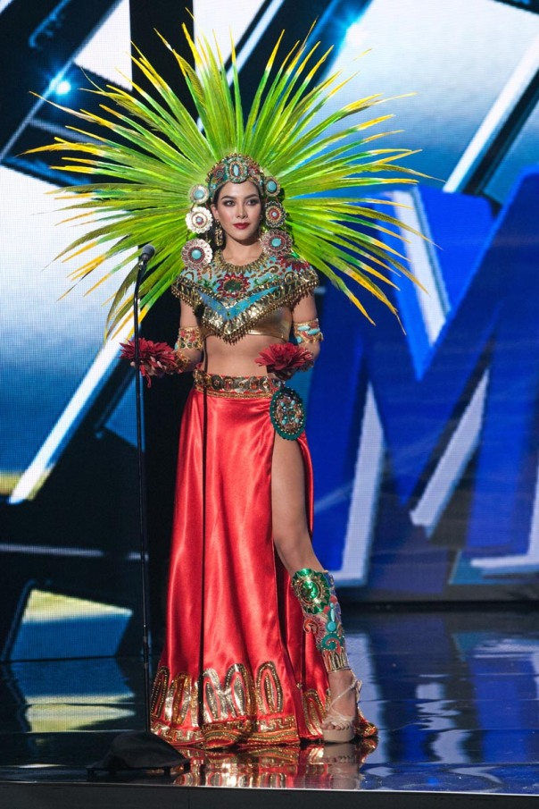 Wendy Esparza, Miss Mexico 2015 debuts her National Costume on stage at Planet Hollywood Resort & Casino Wednesday, December 16, 2015. The 2015 Miss Universe contestants are touring, filming, rehearsing and preparing to compete for the DIC Crown in Las Vegas. Tune in to the FOX telecast at 7:00 PM ET live/PT tape-delayed on Sunday, Dec. 20, from Planet Hollywood Resort & Casino in Las Vegas to see who will become Miss Universe 2015. HO/The Miss Universe Organization