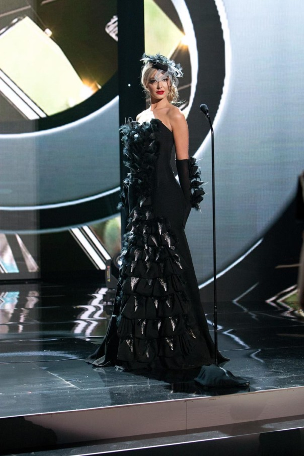 Samantha McClung, Miss New Zealand 2015 debuts her National Costume on stage at Planet Hollywood Resort & Casino Wednesday, December 16, 2015. The 2015 Miss Universe contestants are touring, filming, rehearsing and preparing to compete for the DIC Crown in Las Vegas. Tune in to the FOX telecast at 7:00 PM ET live/PT tape-delayed on Sunday, Dec. 20, from Planet Hollywood Resort & Casino in Las Vegas to see who will become Miss Universe 2015. HO/The Miss Universe Organization
