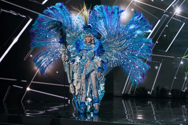 Daniela Torres, Miss Nicaragua 2015 debuts her National Costume on stage at Planet Hollywood Resort & Casino Wednesday, December 16, 2015. The 2015 Miss Universe contestants are touring, filming, rehearsing and preparing to compete for the DIC Crown in Las Vegas. Tune in to the FOX telecast at 7:00 PM ET live/PT tape-delayed on Sunday, Dec. 20, from Planet Hollywood Resort & Casino in Las Vegas to see who will become Miss Universe 2015. HO/The Miss Universe Organization