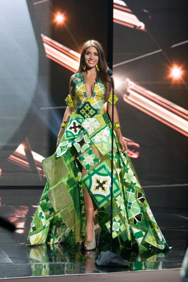 Catalina Morales, Miss Puerto Rico 2015 debuts her National Costume on stage at Planet Hollywood Resort & Casino Wednesday, December 16, 2015. The 2015 Miss Universe contestants are touring, filming, rehearsing and preparing to compete for the DIC Crown in Las Vegas. Tune in to the FOX telecast at 7:00 PM ET live/PT tape-delayed on Sunday, Dec. 20, from Planet Hollywood Resort & Casino in Las Vegas to see who will become Miss Universe 2015. HO/The Miss Universe Organization