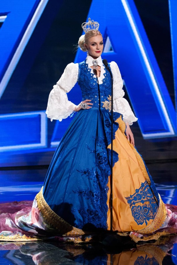Paulina Brodd, Miss Sweden 2015 debuts her National Costume on stage at Planet Hollywood Resort & Casino Wednesday, December 16, 2015. The 2015 Miss Universe contestants are touring, filming, rehearsing and preparing to compete for the DIC Crown in Las Vegas. Tune in to the FOX telecast at 7:00 PM ET live/PT tape-delayed on Sunday, Dec. 20, from Planet Hollywood Resort & Casino in Las Vegas to see who will become Miss Universe 2015. HO/The Miss Universe Organization