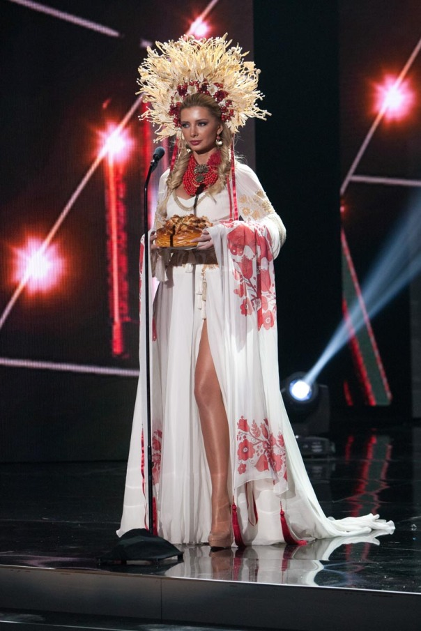 Anna Vergelskaya, Miss Ukraine 2015 debuts her National Costume on stage at Planet Hollywood Resort & Casino Wednesday, December 16, 2015. The 2015 Miss Universe contestants are touring, filming, rehearsing and preparing to compete for the DIC Crown in Las Vegas. Tune in to the FOX telecast at 7:00 PM ET live/PT tape-delayed on Sunday, Dec. 20, from Planet Hollywood Resort & Casino in Las Vegas to see who will become Miss Universe 2015. HO/The Miss Universe Organization