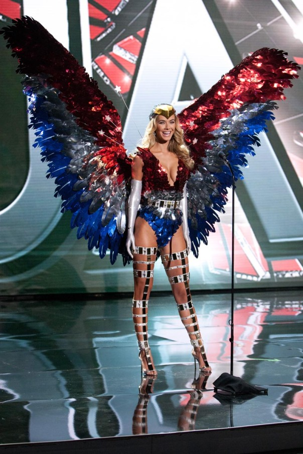 Olivia Jordan, Miss USA 2015 debuts her National Costume on stage at Planet Hollywood Resort & Casino Wednesday, December 16, 2015. The 2015 Miss Universe contestants are touring, filming, rehearsing and preparing to compete for the DIC Crown in Las Vegas. Tune in to the FOX telecast at 7:00 PM ET live/PT tape-delayed on Sunday, Dec. 20, from Planet Hollywood Resort & Casino in Las Vegas to see who will become Miss Universe 2015. HO/The Miss Universe Organization