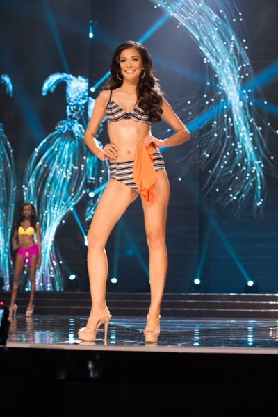 Kezia Warouw, Miss Indonesia 2016 competes on stage as a top 13 finalist in Yamamay swimwear and Chinese Laundry shoes during The 65th MISS UNIVERSE® Telecast airing on FOX at 7:00 PM ET live/PT tape-delayed on Sunday, January 29 from the Mall of Asia Arena. The contestants have been touring, filming, rehearsing and preparing to compete for the Miss Universe crown in the Philippines. HO/The Miss Universe Organization