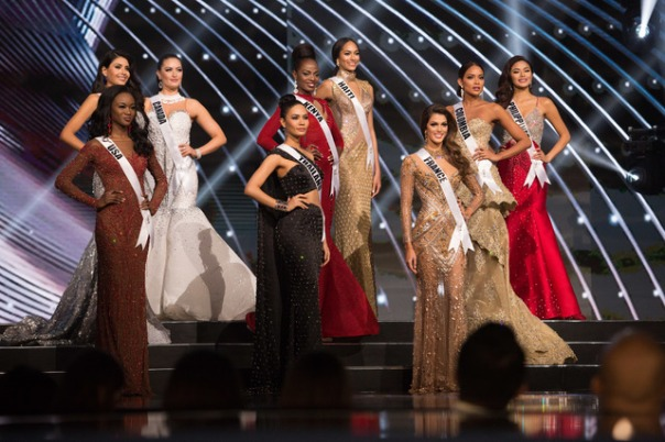 Deshauna Barber, Miss USA 2016; Kristal Silva, Miss Mexico 2016; Siera Bearchell, Miss Canada 2016; Chalita Suansane, Miss Thailand 2016; Mary Esther Were, Miss Kenya 2016; Raquel Pelissier, Miss Haiti 2016; Iris Mittenaere, Miss France 2016; Andrea Tovar, Miss Colombia 2016; and Maxine Medina, Miss Philippines 2016; await to see which of them will be announced as the top 6 finalists during The 65th MISS UNIVERSE® Telecast airing on FOX at 7:00 PM ET live/PT tape-delayed on Sunday, January 29 from the Mall of Asia Arena. The contestants have been touring, filming, rehearsing and preparing to compete for the Miss Universe crown in the Philippines. HO/The Miss Universe Organization
